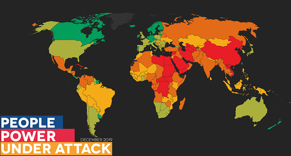 CIVICUS Monitor has released today a report which rates and tracks respect for fundamental freedoms in 196 countries.
